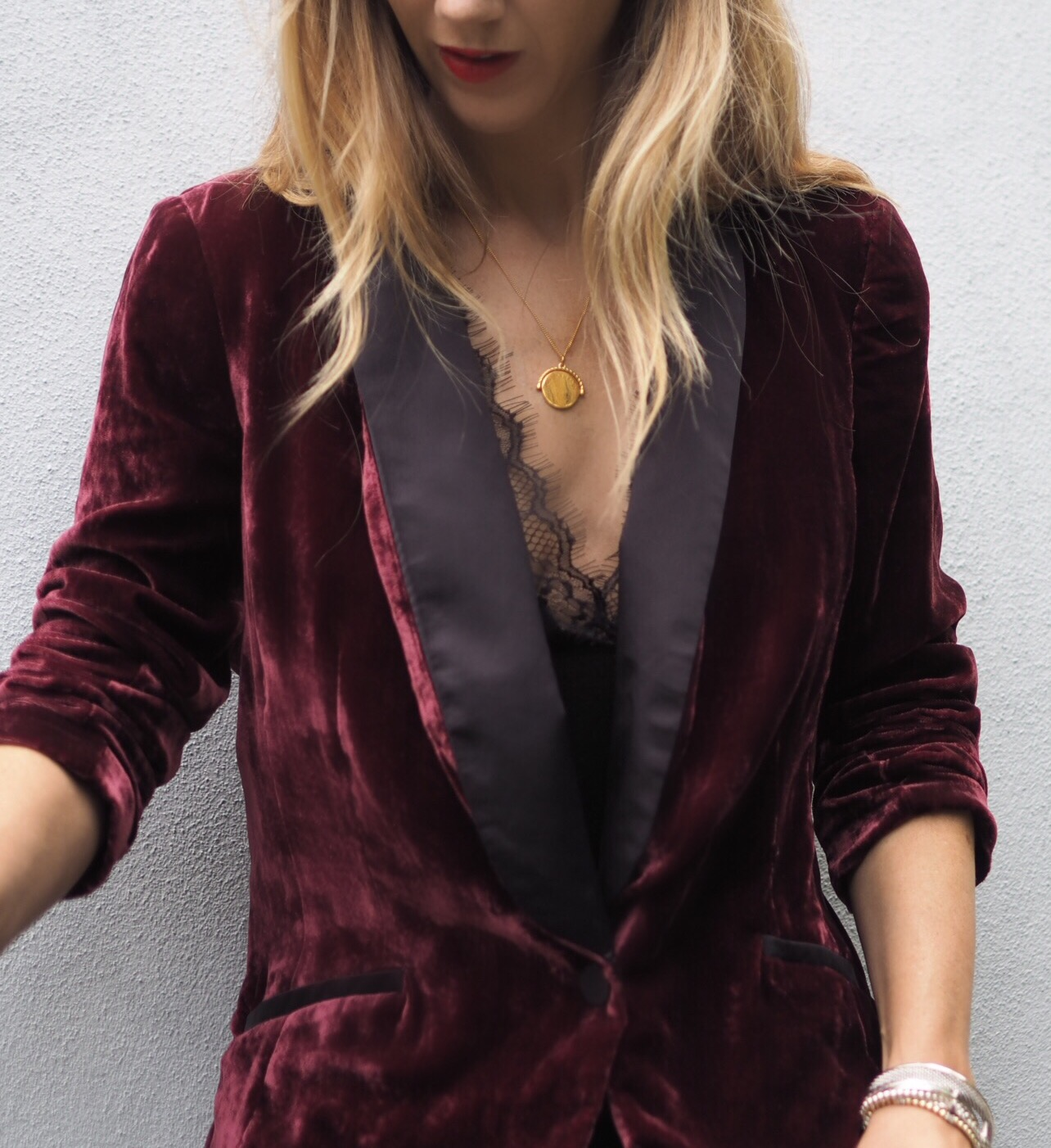 My velvet jacket from Beacons Closet