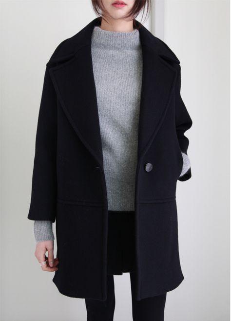 black-coat-grey-jumper