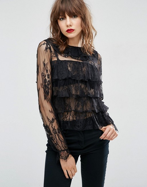 black-lace-with-ruffles