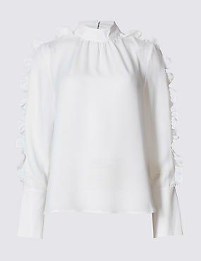 ruffle-high-neck-long-sleeve