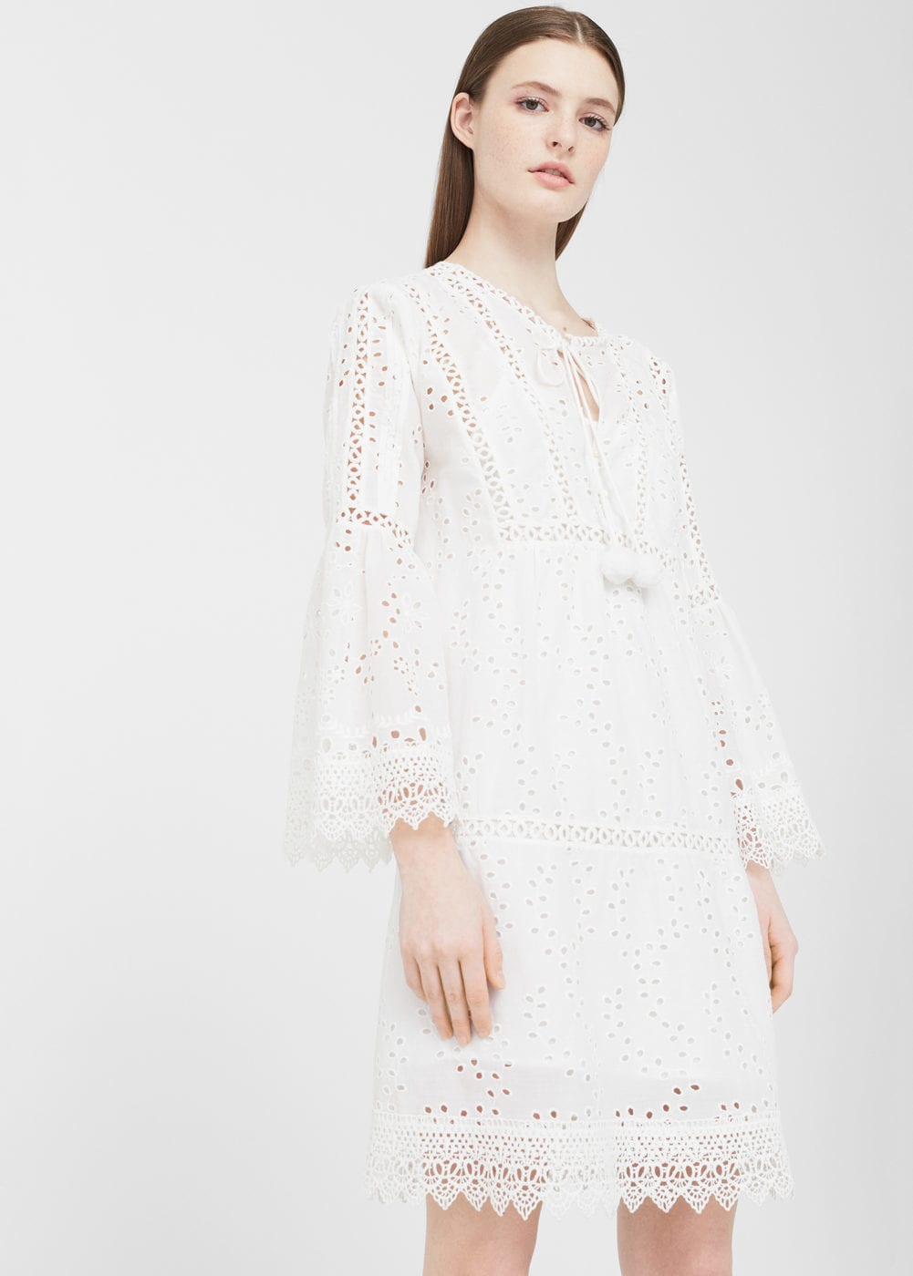 Openwork Cotton Dress