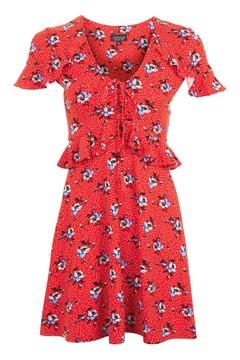 red spot tea dress