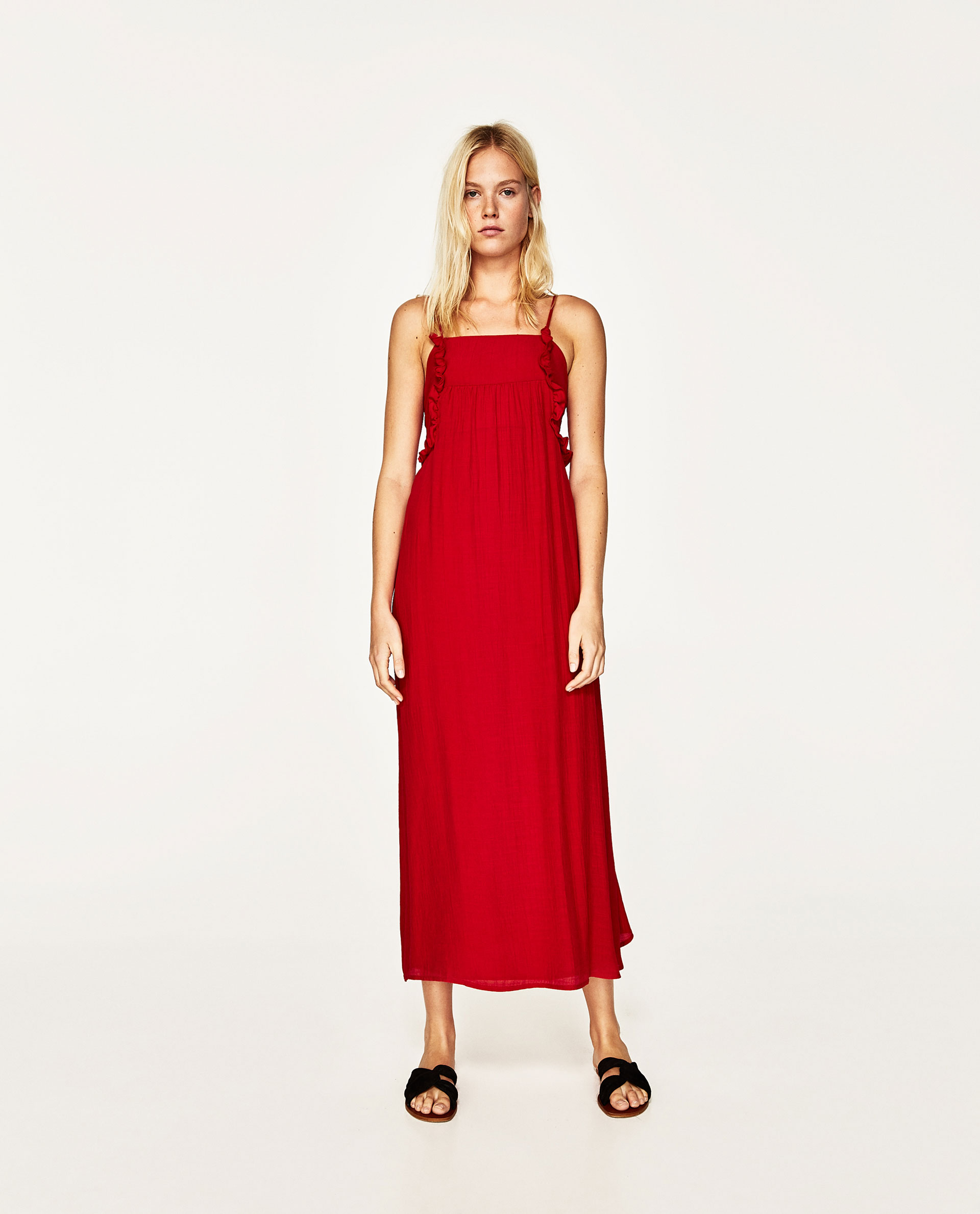red dress zara
